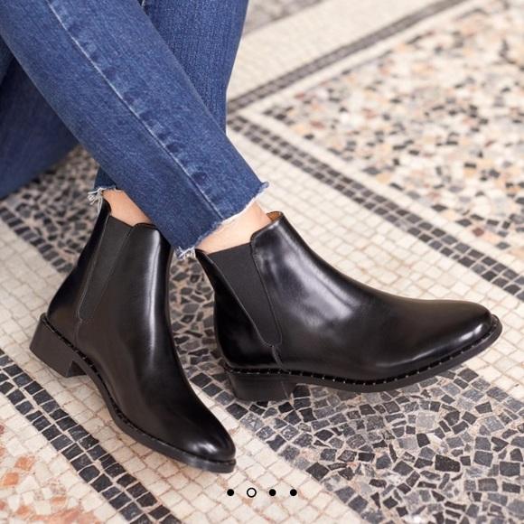 Sezane Low Henry Boots Black